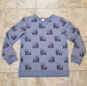 Circo Great Cond. Bears w/ Shades Gray Sweatshirt